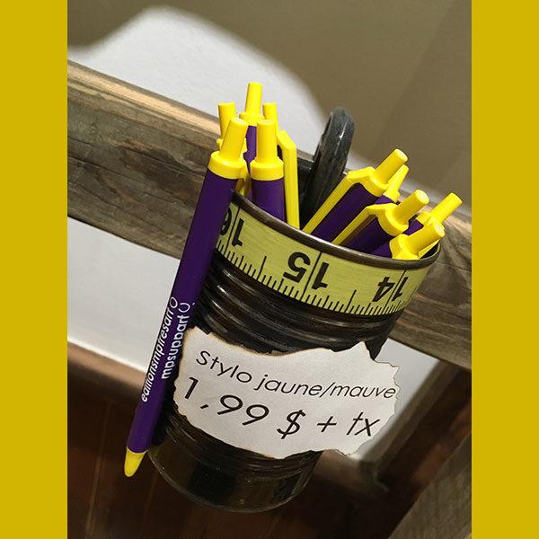 galerie mp tresart stylo bic jaune mauve