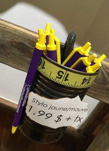 galerie-mp-tresart-stylo-bic-jaune-mauve